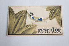 Ancienne carte publicitaire parfum Rêve d'Or de L.T Piver Paris
