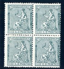 Sellos de España 1873 nº 133 A 10 céntimos Bloque de Cuatro Nuevo