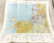 1981 Military Map of Liverpool Anglesey Lancashire RAF Aeronautical Helicopter