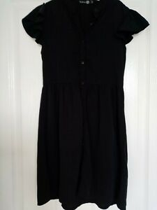 Girls Black Boohoo Dress Age 9-10 Years