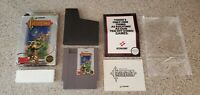 Castlevania NES Hangtab Box Complete CIB Five 5 Screw 1st Print Overlap Label !!