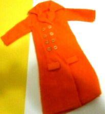 Clone doll clothes Barbie Maddie Mod Tressy Sindy Long Orange Flannel Coat