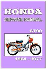 HONDA Workshop Manual CT90 1967 1968 1969 1970 1971 1972 1973 1974 1975 1976