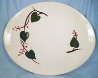 Blue Ridge Stanhome Ivy Platter Oval Serving Southern Potteries Vintage 4325