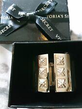 $78 Victoria's Secret Gold Rhinestone Pave Stone Bracelet Bangle Cuff Hermes