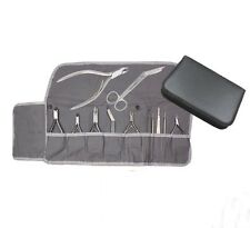 Baumwolleinlage für Instrumenten Etui - grau - Fußpflege Nageldesign mobile