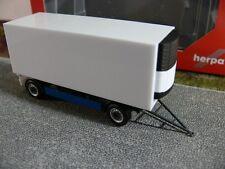1/87 Herpa valigia di raffreddamento-rimorchio 2-ACH Blu/Bianco 076777