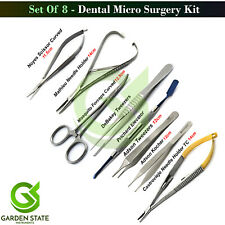 8 Pieces Micro Surgery Instruments Kit Dental Periodontal Surgical Basic Tools