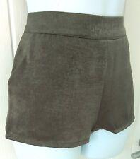 MAGGIE + ME Ladies MY NIGHT MINI SHORTS Size S 10 12 Grey Satin  Hot Pants BNWT
