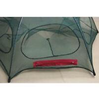 Folded Fishing Net Fish Shrimp Minnow Crab Baits Cast Mesh Trap DI