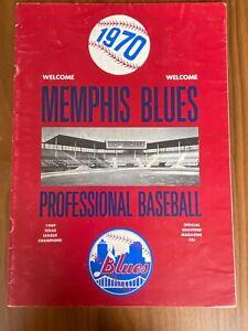 1970 Memphis Blues Baseball Program - New York Mets AA Affiliate - Unscored