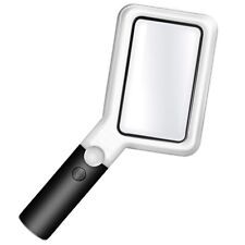 Magnifier ,Handheld Magnifier with Led ,Dimmable Magnifying Glasses for Read W91