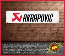 Lona Pvc AKRAPOVIC VINTAGE para Garaje-Taller /Banner Pvc for Garage - Workshop