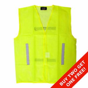 Lightweight Hi Vis Mesh - Waistcoat Vest Bib Safety Jacket - High Visibility  XL