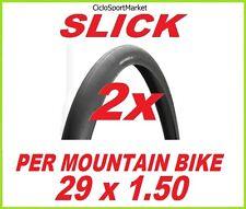 "2 x Copertoni copertone SLICK 29"" x 1.50 per bicicletta MTB / Mountain Bike"