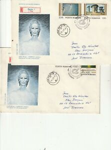 ROMANIA COVER 1982 MODERN ART SABIN BALASA USED FIRST DAY POST HISTORY