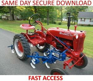 Farmall Cub IH Tractor Service & Operation Manuals - FAST ACCESS