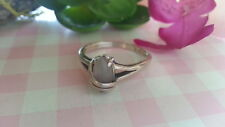Beautiful Marquise White Gem Avon Ring 925 Sterling Silver *Size 8 *C622