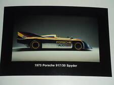 Porsche Factory 1973 917/30 Spyder Collector Card PostCard RARE Awesome L@@K