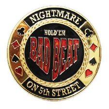 Poker Card Guard BAD BEAT doré jeton protège cartes