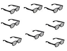 8x 3D Glasses for 3D Passive LG Panasonic Sony TVs Monitor Passive 3D