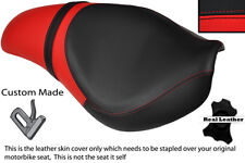Negro Y Rojo Custom encaja Triumph Bonneville Latina Speedmaster Roadster cubierta