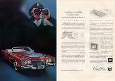 1971 Cadillac Eldorado Convertible Pilot PRINT AD