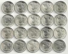 1 Roll__1922-1923-1924-1925-P  Peace Silver Dollars__AU/BU__#1322KJ10