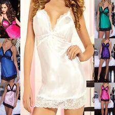 Sexy Bridal Lingerie Clubwear Satin Chemise Babydoll sleep wear mini Dress BD155