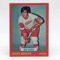 1973 74 OPC O Pee Chee Henry Boucha 33 Detroit Red Wings Ice Hockey Card E610