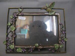 *2958  très joli porte photo en métal decor oiseau