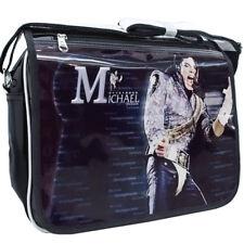 Michael Jackson PU Leather Schoolbag Shoulders Bag Student Satchel C#