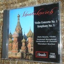 Shostakovich: Violin Concerto No. 1 & Symphony No. 5 (CD, Jan-2001, Amadis), NEW