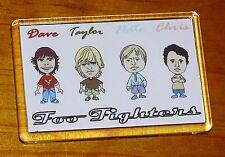 Foo Fighters cartoon Grohl Hawkins Mendel Shiflett fridge magnet