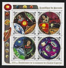 1973 Burundi Scott #C186a - Copernicus Commemorative Souvenir Sheet - MNH