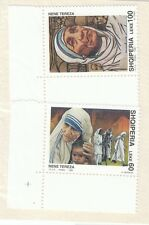 ALBANIA - Bustina 2 francobolli serie MADRE TERESA DI CALCUTTA - No. 4