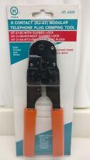 New H-Tools 8 Contact Modular Plug Crimp Tool for Rj45 Crimps Strips Cut Ht-210N