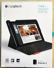 Logitech Type+ Protective Case with Integrated Keyboard for iPad Air 2—Carbon Bl