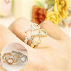 Women Lucky 8 Best Friend Engraved Friendship Sweet Warm Gift Infinity New Ring
