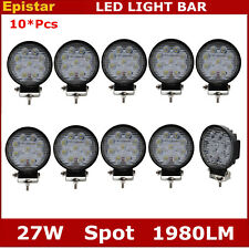 10X 4Inch 27W Round Spot Led Work Light Driving ATV UTE Fog 4WD Front Bumper 48W