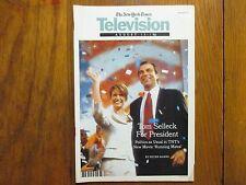 Aug-2000  N Y Times TV Magazine(TOM SELLECK/NANCY TRAVIS/NIGEL MARVEN/SHARK WEEK