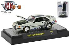 1:64 M2 Machines *HOBBY EXCLUSIVE* White 1987 Ford Mustang GT Cobra Jet *NIP*