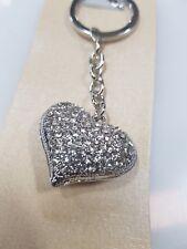 100 x diamond love heart Keyring bombonniere, wedding favour, key rings,keychain