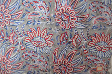 5 Yard Indian Hand block Print Running Loose Cotton Fabrics Printed Decor @37