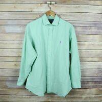 POLO RALPH LAUREN Men's Custom Fit Long Sleeve Button Front Shirt 16 1/2 32/33