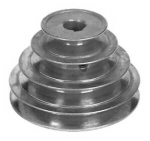 """Congress Sca400-4X062kw 5/8"""" Or 1/2"""" Fixed Bore 4 Groove Stepped V-Belt Pulley"""