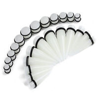 00G-20MM Ear Stretching Kit Plugs & Tapers Set 24pc Gauges
