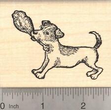 Thanksgiving Parson Jack Russell Terrier Dog with Turkey Leg Rubber J19605 Wm
