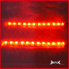 14CM Ultra Bright Red LED Flexible Strips - Auxilary Brake Lights - High Quality