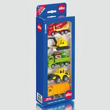 SIKU Kinder Spielzeug Modellautos 5er Geschenkset 4 Baufahrzeuge LKW / 6283